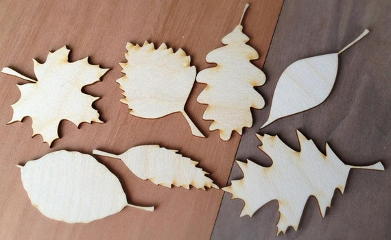 Wooden shapes for crafts