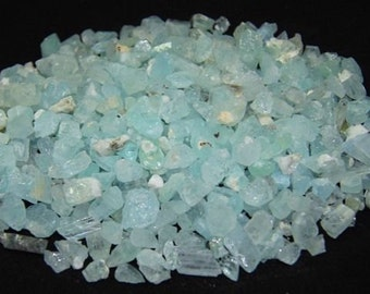 Aquamarine  crystal - by grams carats - naturally formed - wire wrapping stones - Blue Beryl - raw rough - lot of specimens natural crystals