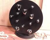 Ring Holder Ring Rack  wooden 12 pegs Ring organizer