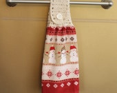 Snowmen and snowflakes Crocheted Top Towel-H056