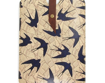 Leather iPad mini case, iPad mini 3 Case, Kindle Paperwhite case - Swallow and Leaf