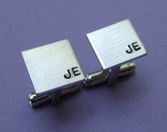 Cuff Links, Hand Stamped Cuff Links, Perfect Keepsake Gift for Husbands, Grooms, Groomsmen or Anniversary
