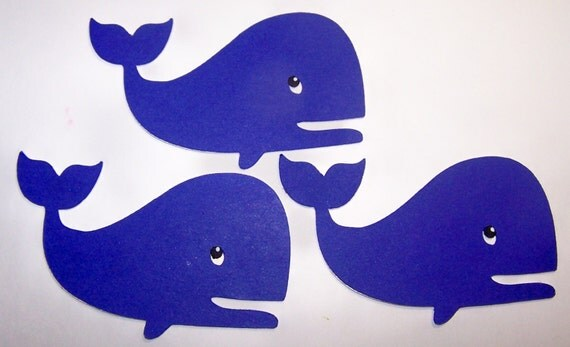 Whale Classroom Decor : Whale die cut paper piecings favor tags fish by