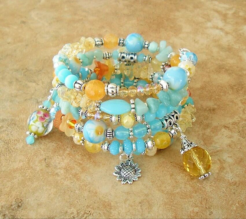 Nara Beads: NEW Boho Bracelet Colorful Jewelry Layered Bracelet