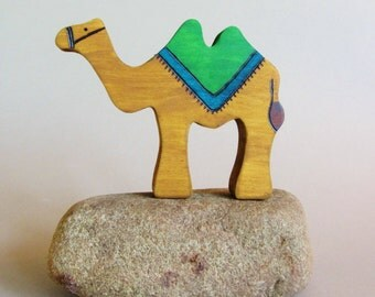 Wooden Camel Toy Waldorf natural Silk Road Nativity Animal