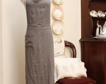 MODERN full apron....linen
