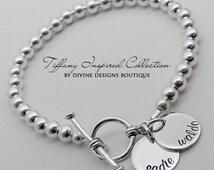 Silver Name Bracelet - Hand Stamped Jewelry - Personalized Bracelet