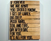 It's All For You - Wooden Canvas