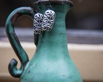 Rectangle Metal Bead Earrings