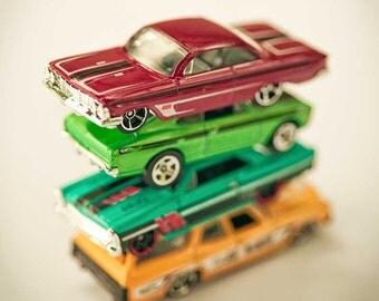 Nursery art, Children's Wall Art, boys room print, toy cars, car photography, still life, fine art photography, art for nursery