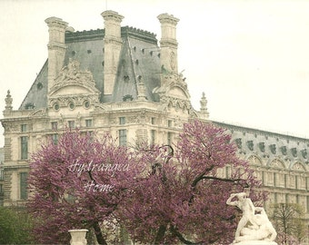 The Louvre, Paris France, photographic print, travel photo