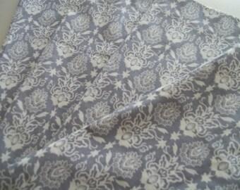 Cloth Napkins ~ Grey Floral Cotton Napkin ~ Set of 4 Napkins ~ Art Nouveau Napkins