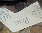 Christmas Stocking / Canvas / Grain Feed Sack Design