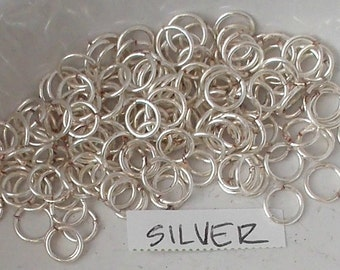 Jump Rings - 20gauge 4.5mm and 5.05 Mix Silver - Non Tarnish