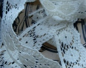 Antique French Netted Lace for Fabric Journals or Antique Doll Clothes