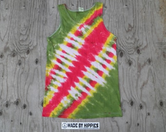 Rastaman Bandolier Tie Dye Tank Top (Alstyle Size S) (One of a Kind)