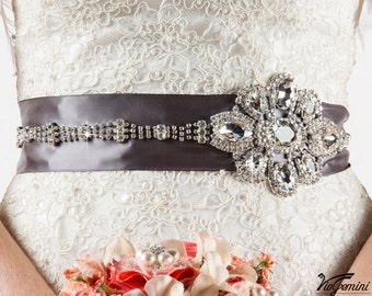 Bridal sash, Rhinestone Beaded Sash, Wedding Sash, Crystal Sash, Bridal Accessories, Art Deco Bridal Sash
