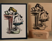Alice in Wonderland-wood mounted rubber stamp (MCRS 19-01)