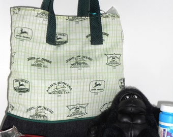 Vintage John Deere Signage Childs Book Bag / Tote / Travel / Overnight / Party Favor / Embroidered