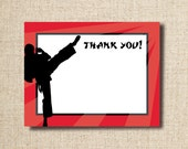 Karate Thank You Card, printable file