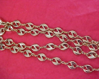 Ornate Gold Plate Link Necklace - Perfect for Charms