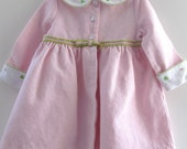 Please Reserve for EMCMAHON1, Dress, Waffle Weave, 24 Months,  Pink, Embroidered, By Little Billy, Cotton Poly Blend, Peter Pan Collar