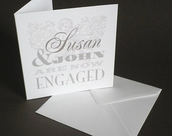 Personalised The Pigeon Post Stationery Co. Engagement Card