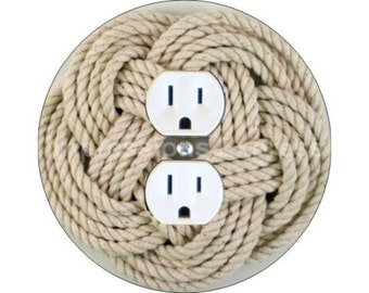Turk's Head Knot Nautical Duplex Outlet Plate Cover