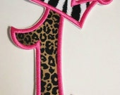Iron on Applique -  Princess Number One with Crown - NEW SIZE and New Example Now AVAILABLE