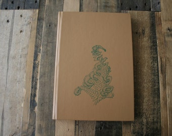 Vintage Recycled Sketch Book - America's Majestic Canyons