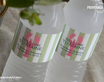 Printable Waterbottle Labels // Match My Stickers