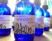woodsy refresher spray for body, room and linen, facial toner, aftershave, deodorant - medicinegardens
