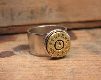 Bullet Casing Jewelry - Brass Bullet Casing Adjustable Ring