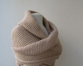 Custom order for Shery, Please dont purchase, Hand knitted shawl mohair yarn beige with Armwarmer