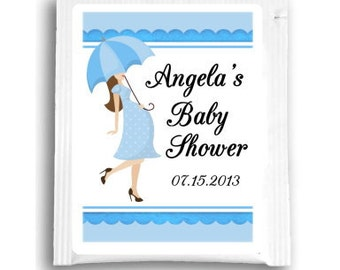 Baby Shower Tea Bag Favors, Custom Tea Bag Labels, Customized Tea Favors for Baby Shower Tea Favors, Baby Tea Favors