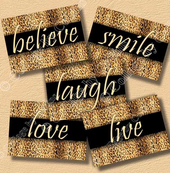 Cheetah Leopard Print Inspirational Wall Art Decor Girls Room