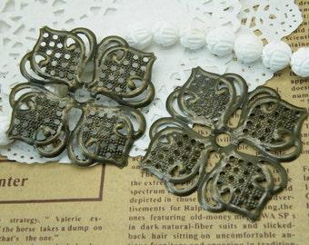 10pcs 47X47mm Antique Bronze Flower Filigree Wire Wrap S131--20% OFF