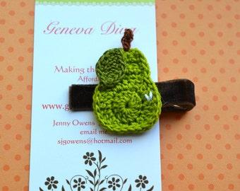 Juicy Pear Crochet Hairclip