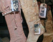 The Stockings Were Hung,  A SecondTimeAround Design, Primitive Stocking Pattern, PDF ONLY