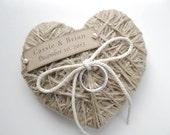 Ring Bearer Pillow - in WEDDINGS UNVEILED  2013 magazine - reuse as Christmas ornament/keepsake - ring bearer pillow- Wedding Ceremony