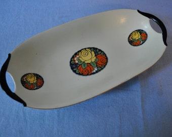 Beautiful Bavarian Porcelain Vintage Fruit Tray Hand Painted Art Deco Decoration