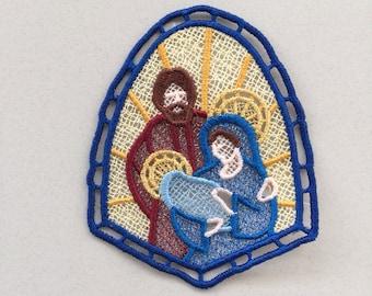 Holy Family Nativity Lace