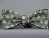 Cannabis Weed Leaf  Bow tie