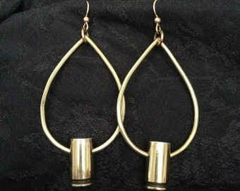 Bullet teardrop earrings