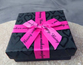 Black and Pink Decorative Gift Box