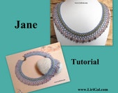 Jane SuperDuo Beadwork Necklace PDF Tutorial