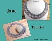 Jane SuperDuo Beadwork Necklace PDF Tutorial