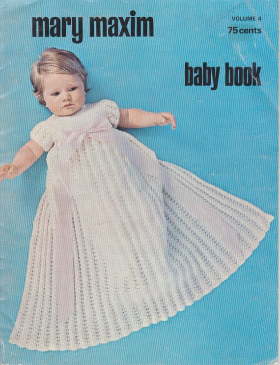 Mary Maxim Baby Book Volume 4 Vintage Knitting Patterns