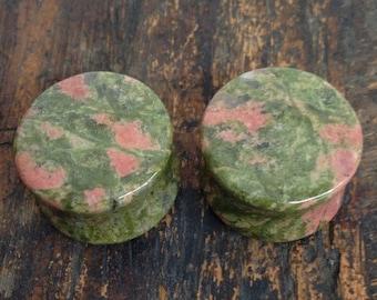 "7/8"" (22mm) Unakite Stone Plugs 1"