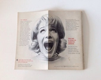 Hilarious 1960s Isometric Exercise Book 1960s hairstyles 60s hair 60s fashion Mod Beatnik
